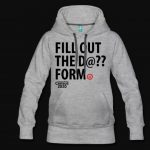 The Tacoma Urban League census sweatshirt is gray with black words in all caps that say,